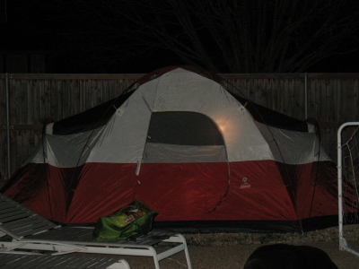 Backyard campout